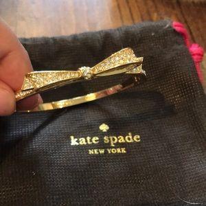 Kate Spade pave bow bangle